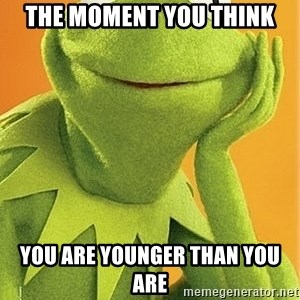Kermit the frog - The moment you think You are younger than you are