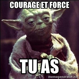 Advice Yoda - Courage et force Tu as