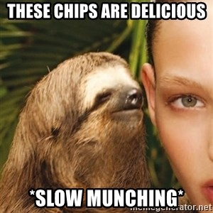 The Rape Sloth - These chips are delicious *slow munching*