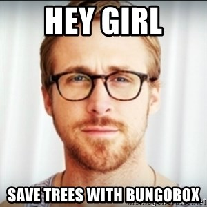 Ryan Gosling Hey Girl 3 - hey girl save trees with bungobox