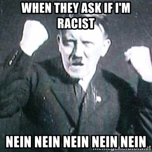 Successful Hitler - When they ask if I'm racist Nein nein nein nein nein