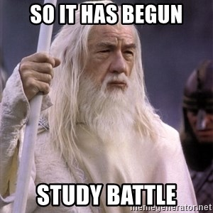 White Gandalf - So it has begun Study Battle