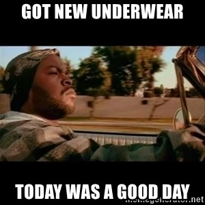 Ice Cube- Today was a Good day - Got new underwear  Today was a good day