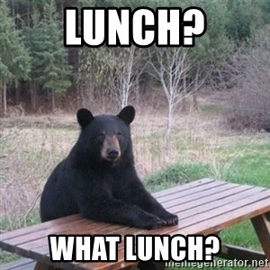 Patient Bear - lunch? what lunch?
