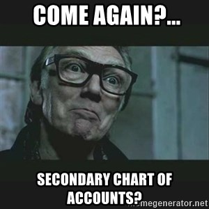 Brick Top - Come again?... Secondary Chart of Accounts?