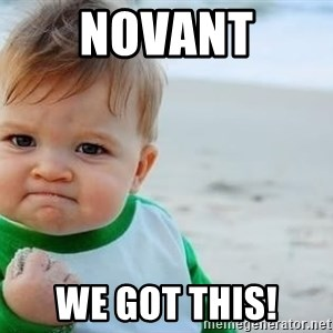 fist pump baby - Novant We got this!