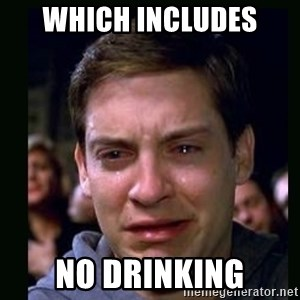 crying peter parker - Which includes  No Drinking