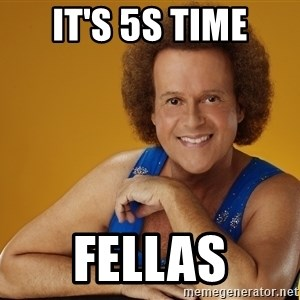 Gay Richard Simmons - It's 5S time Fellas