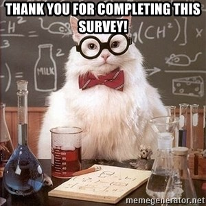Science Cat - Thank you for completing this survey!