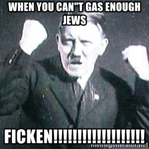 "Successful Hitler - WHEN YOU CAN""T GAS ENOUGH JEWS FICKEN!!!!!!!!!!!!!!!!!!!"