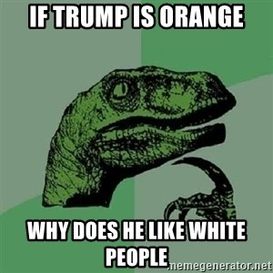Philosoraptor - If trump is orange why does he like white people