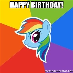 Rainbow Dash - Happy Birthday!