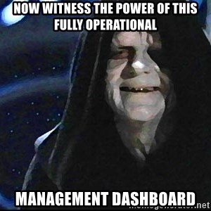 Star Wars Emperor - Now witness the power of this fully operational management dashboard
