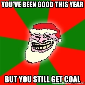 Santa Claus Troll Face - you've been good this year but you still get coal
