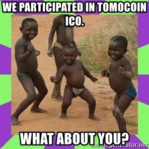 african kids dancing - we participated in tomocoin ICO. What about you?
