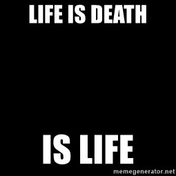 Blank Black - Life is death Is life