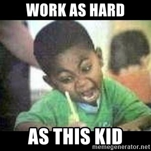 Black kid coloring - WORK AS HARD AS THIS KID