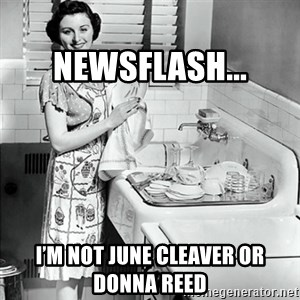 50s Housewife - Newsflash... I'm not June Cleaver or Donna Reed