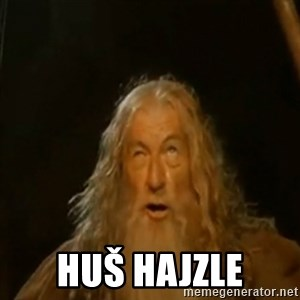 Gandalf You Shall Not Pass - Huš hajzle