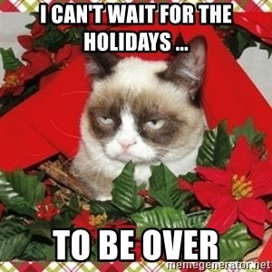 Grumpy Christmas Cat - i can't wait for the holidays ... to be over