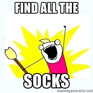 All the things - find all the  socks