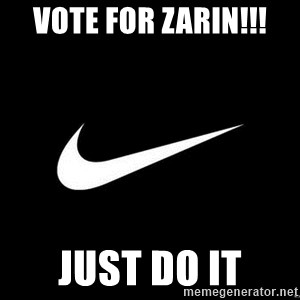Nike swoosh - vote for zarin!!! just do it
