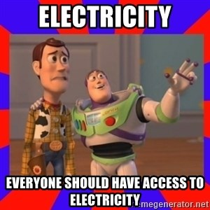 Everywhere - Electricity Everyone should have access to electricity
