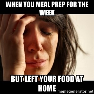 crying girl sad - When you meal prep for the week but left your food at home