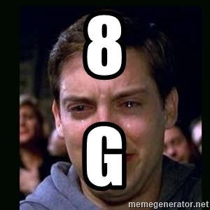 crying peter parker - 8 G