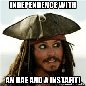 Captain Jack Sparow - Independence with an HAE and a instafit!