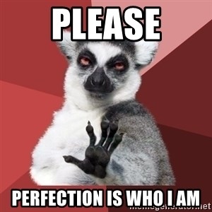 Chill Out Lemur - Please Perfection is who I am