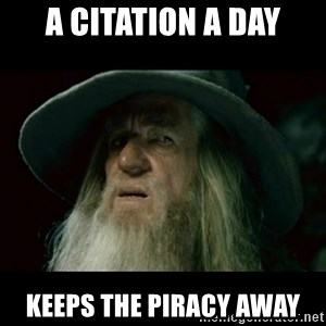 no memory gandalf - A Citation a day Keeps the piracy away