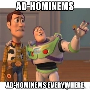 Toy story - ad-hominems ad-hominems everywhere