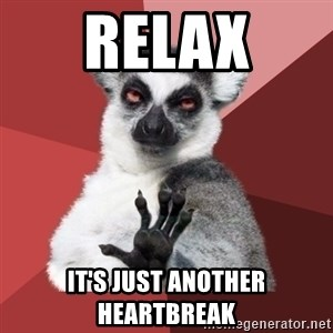 Chill Out Lemur - RELAX It's just another heartbreak