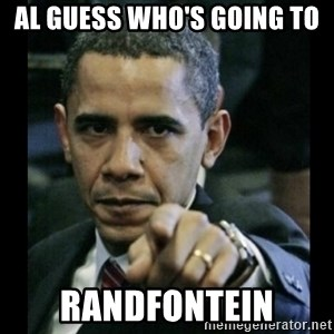 obama pointing - Al Guess who's going to  Randfontein