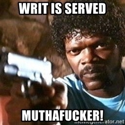 Pulp Fiction - Writ is served Muthafucker!