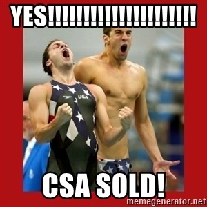 Ecstatic Michael Phelps - yes!!!!!!!!!!!!!!!!!!!!! csa sold!