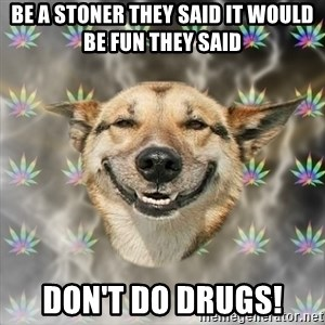 Stoner Dog - Be a stoner they said It would be fun they said Don't do Drugs!