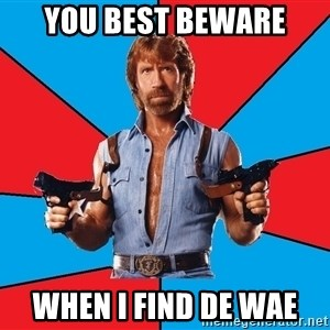 Chuck Norris  - You best beware When I find de wae