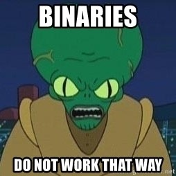 Morbo - BINARIES DO NOT WORK THAT WAY