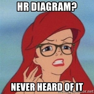Hipster Ariel - Hr Diagram? Never heard of it