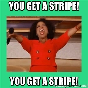 Oprah Car - You get a STRIPE!  You get a STRIPE!