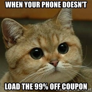 Do you think this is a motherfucking game? - when your phone doesn't load the 99% off coupon