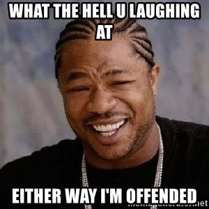 Yo Dawg - What the hell u laughing at  Either way I'm offended