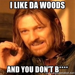 One Does Not Simply - i like da woods and you don't b****