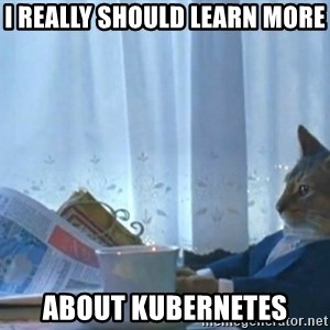 newspaper cat realization - I really should learn more about kubernetes