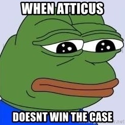 Sad Frog Color - when atticus doesnt win the case