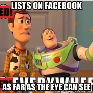 Toy Story Everywhere - Lists On Facebook As Far As The Eye Can See