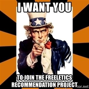 Uncle sam wants you! - I want you to join the Freeletics Recommendation project