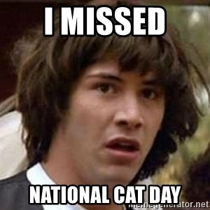 Conspiracy Keanu - I missed  national cat day